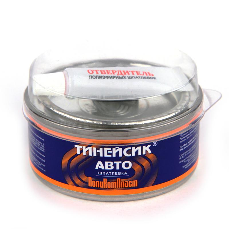 """Шпатлевка двухкомпонентная полиэфирная """"Тинейсик-авто"""" ПолиКомПласт, уп. 0,15 кг 959"""