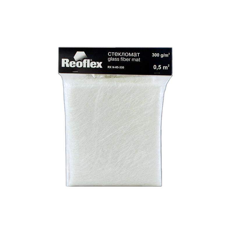 Стекломат Reoflex (300 гр/1кв.м.), уп. 0,5 кв.м. Glass Fiber Mat RX N-05-300