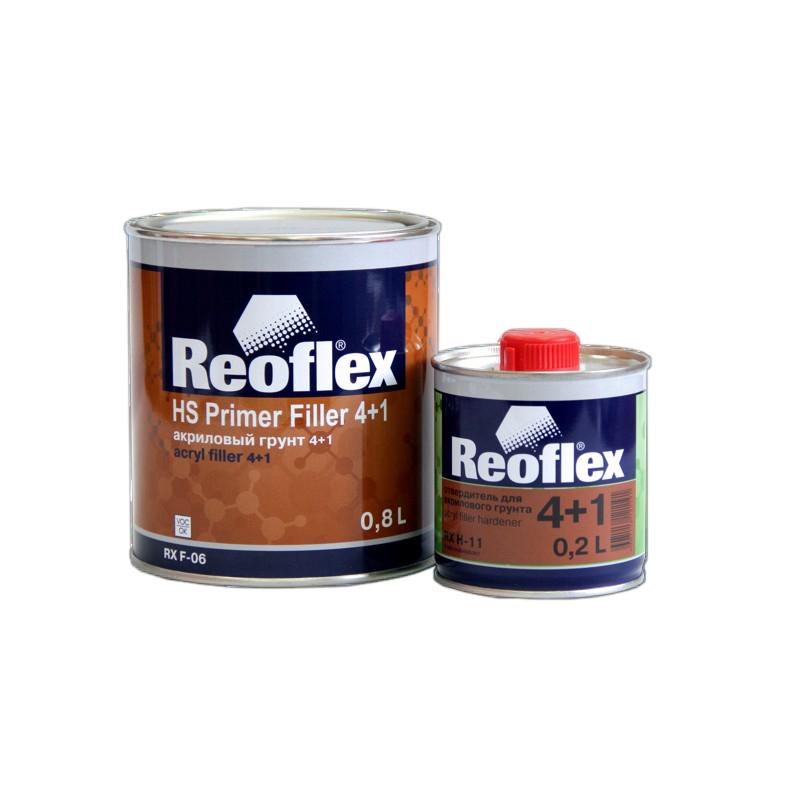 Грунт акриловый 2K 4+1 Reoflex (серый) уп. 0,8+0,2л (комплект) 960