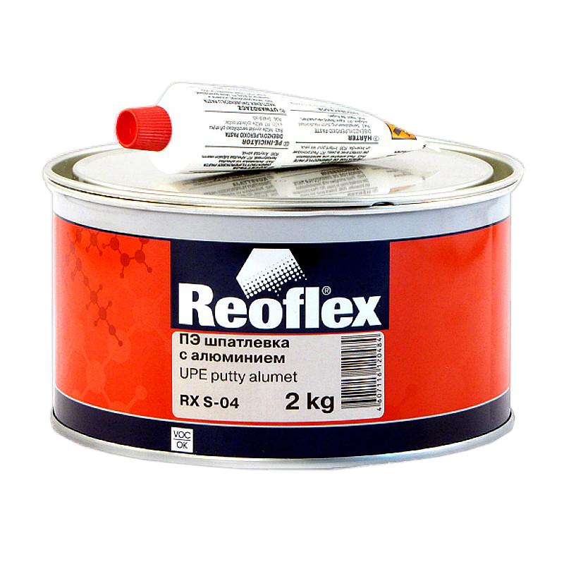 Шпатлевка с алюминием Reoflex Alumet RX S-04, уп. 2кг 960
