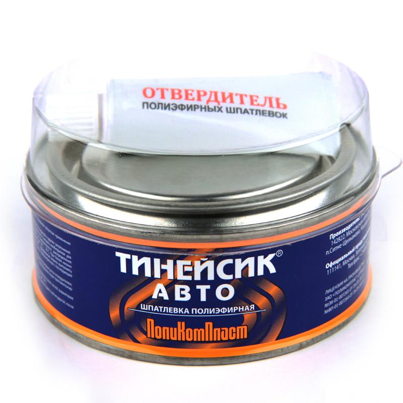 """Шпатлевка двухкомпонентная полиэфирная """"Тинейсик-авто"""" ПолиКомПласт, уп. 0,35 кг 959"""