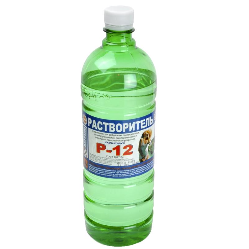 """Р-12 акрил медлен. Растворитель """"Полихим"""", уп. 1л 963"""