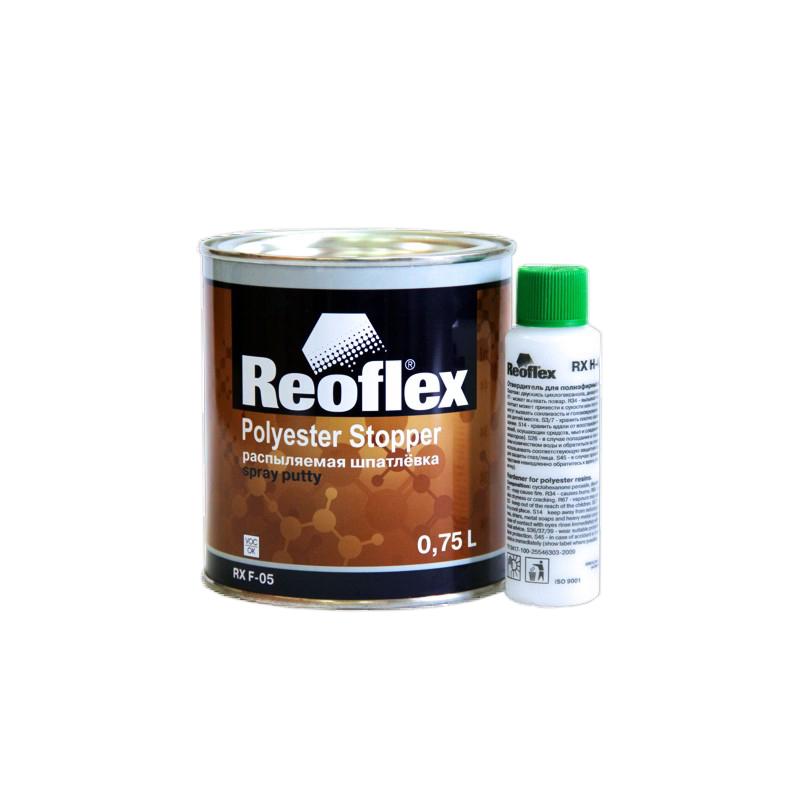 Шпатлевка распыляемая (жидкая) Reoflex Spray RX F-05 (основа+отверд.), уп. 0,75+0,05л (комплект) 960