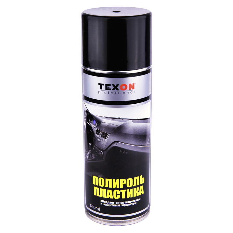 Полироль для пластика и резины Texon (аэрозоль), уп. 0,52л 958