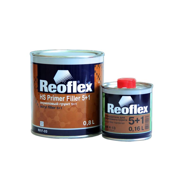 Грунт акриловый 2K 5+1 Reoflex (серый) уп. 0,8+0,16л (комплект) 960