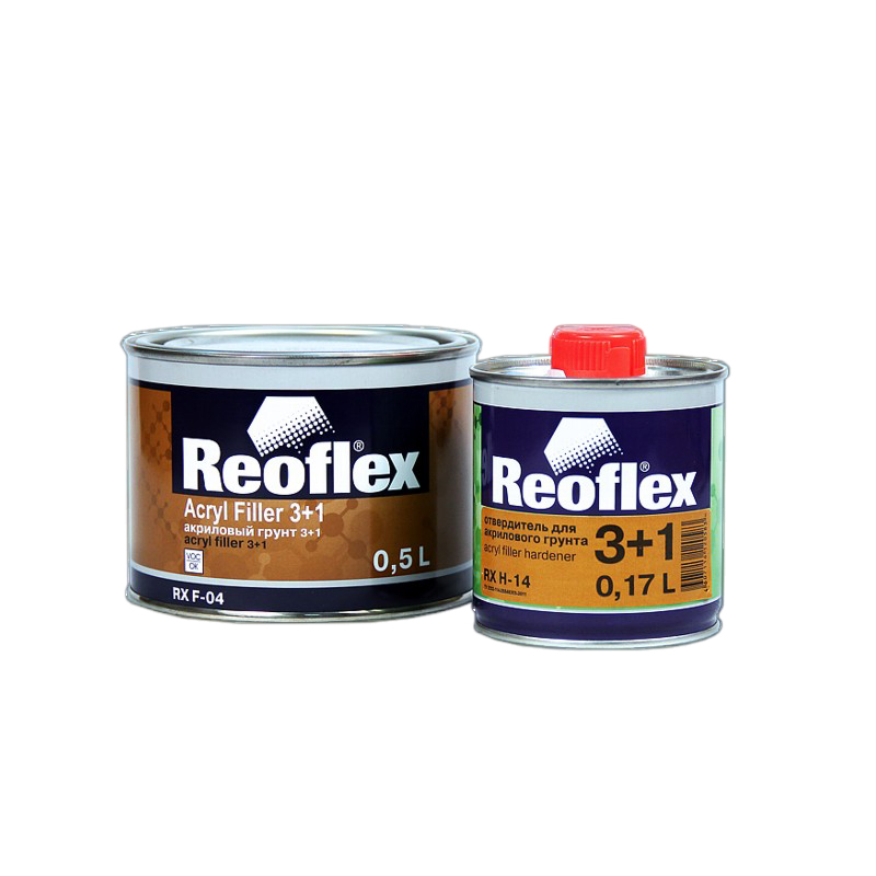 Грунт акриловый 2K 3+1 Reoflex (серый) уп. 0,5+0,167л (комплект) 960